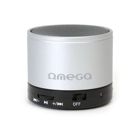 Omega Bluetooth reproduktor OG47B, strieborný