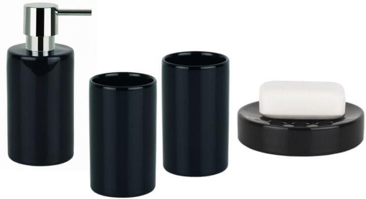 Spirella Set koupelnových doplňků Tube černá