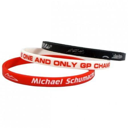 Michael Schumacher 3x silikonska zapestnica (06045)