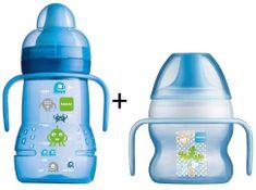 MAM Trainer 220 ml + Starter Cup első ivópohár
