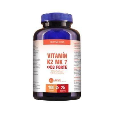Vitamín K2 MK 7 + D3 Forte tbl.100 +25 ZDARMA