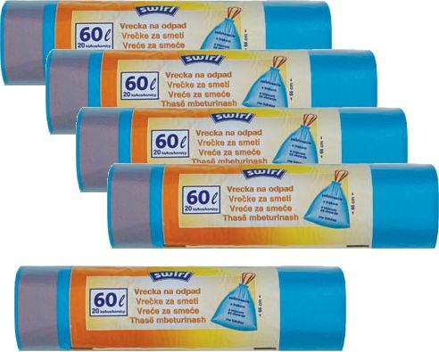 Swirl Pack 5x zatahovací pytle na odpad 60l/20 ks