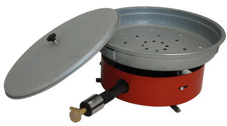 Gorenc pekač za kostanj fi 40 s pokrovom + plinski gorilnik G1ZO z obročem