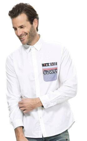 Desigual moška srajca L bela