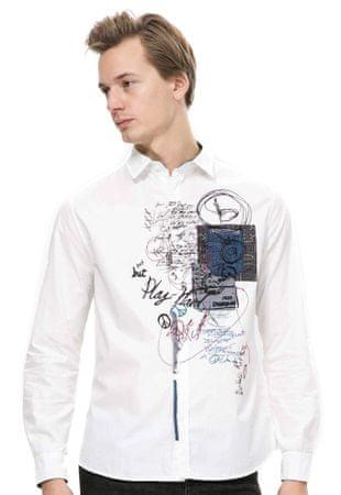 Desigual moška srajca S bela