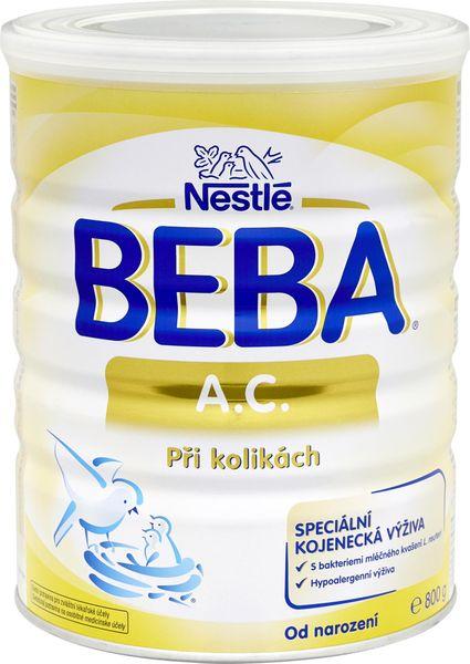 Nestlé Beba A.C. speciální kojenecké mléko při kolikách, 800 g