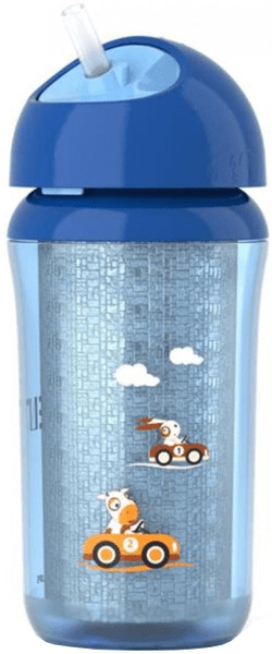 Avent Hrneček IZO s brčkem 260ml od 12 měsíců, modrá