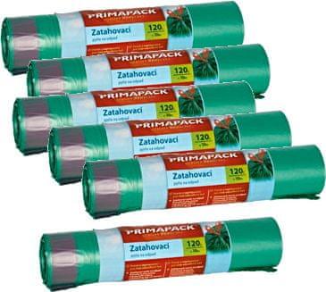 Prima Pack 6x Zatahovací pytle na odpad 120l/10ks