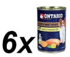 Ontario Konzerva Mini Calf, Sweetpotato, Dandelion and linseed oil 6 x 400g