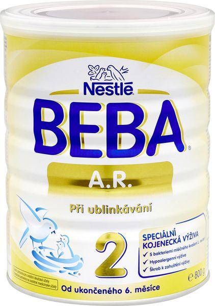 Nestlé Beba A.R. 2 speciální kojenecké mléko při ublinkávání, 800 g