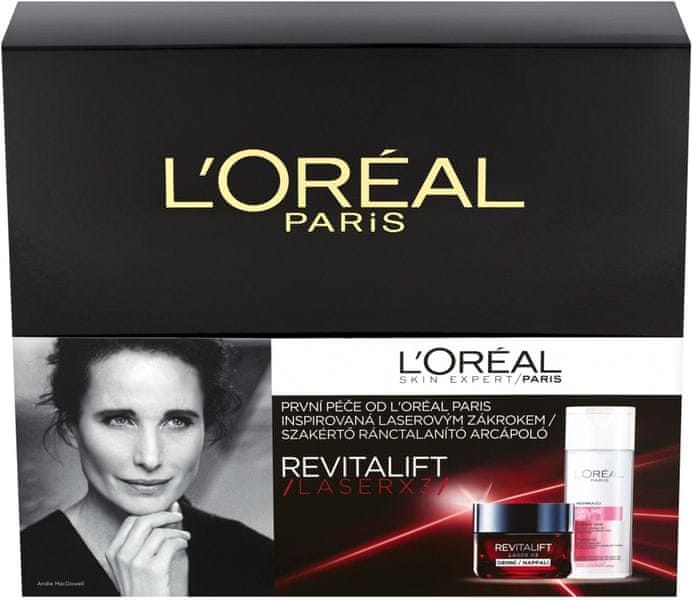 L'Oréal Revitalift Laser X3 Day Cream 50 ml Revitalift Laser X3 + 200 ml Sublime Soft Cleansing Milk