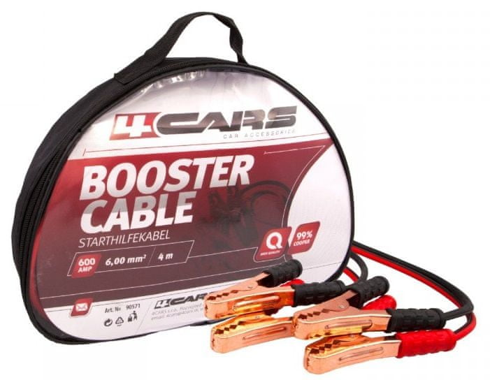 4Cars Startovací kabely 600AMP 4m