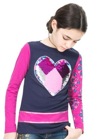 Desigual dívčí tričko 128 modrá