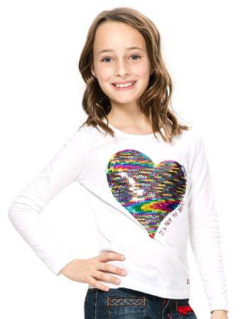 Desigual dekliška majica 128 bela