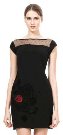 Desigual dámské šaty L černá