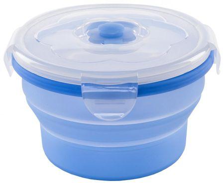 Nuvita 4468 Składany, silikonowy pojemnik na żywność 540 ml, niebieski