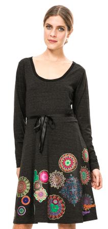 Desigual ženska obleka XS siva