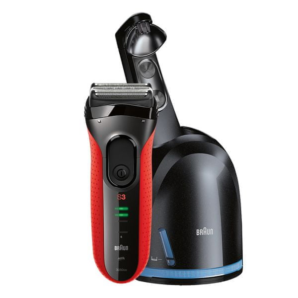 Braun Series 3 3050 Clean&Charge Red