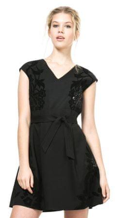 Desigual ženska obleka 36 črna