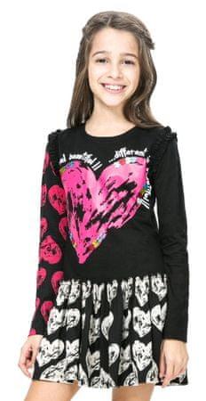 Desigual dekliška obleka 104 črna
