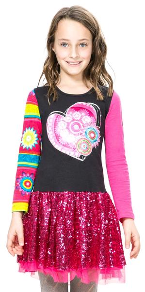 Desigual dívčí šaty 128 vícebarevná