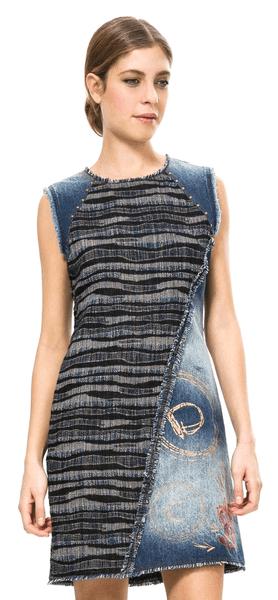 Desigual dámské šaty 40 modrá