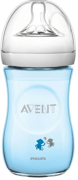 Avent Láhev Natural 260 ml (PP), modrá opice