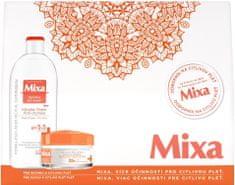 Mixa s vyživující péčí pro suchou a citlivou pleť Bohatý výživný krém 50 ml + micelární voda 400 ml Dárko