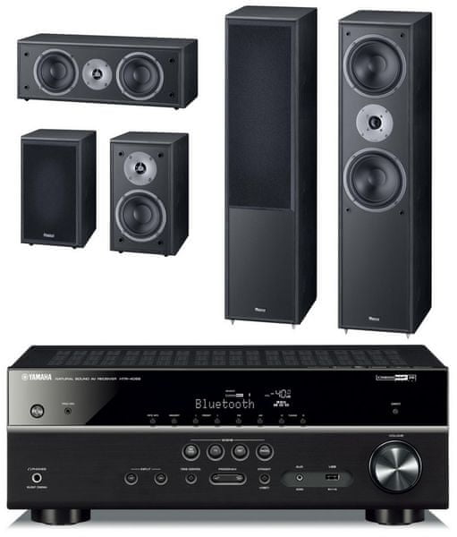 Yamaha HTR-4069 + Magnat Monitor Supreme 802 set, černá
