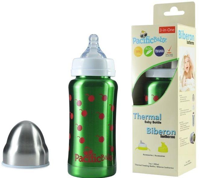Pacific Baby Dětská termoláhev 200ml zelená
