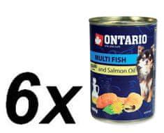 Ontario Konzerva Mini MULTI FISH and Salmon Oil 6 x 400g