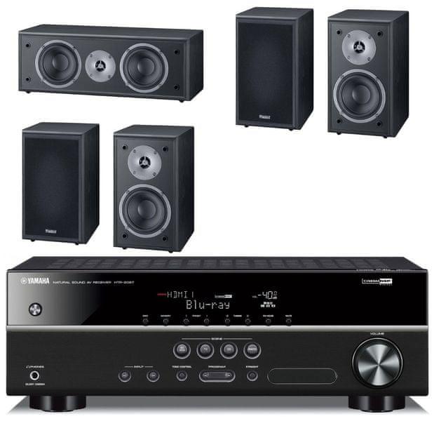 Yamaha HTR-2067 + Magnat Monitor Supreme 102 set, černá