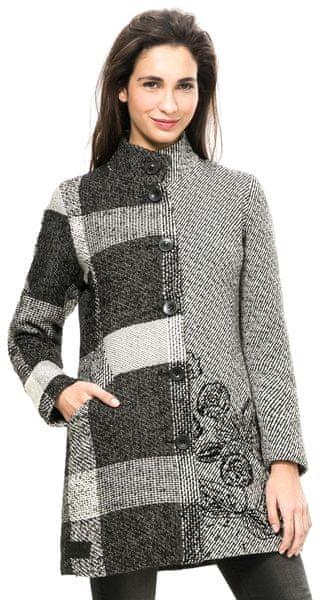Desigual dámský kabát 40 šedá