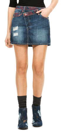 Desigual dámská jeansová sukně 34 modrá