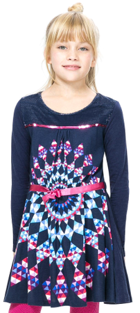 Desigual dekliška obleka 116 modra