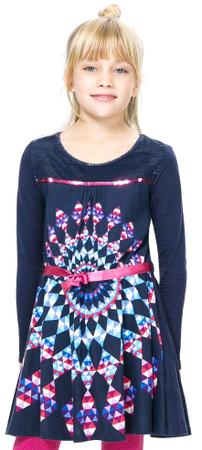 Desigual dívčí šaty 152 modrá