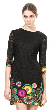 Desigual dámské šaty 38 čierna