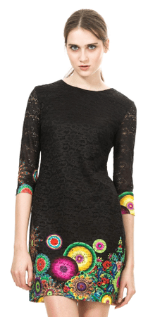 Desigual sukienka damska 40 czarny