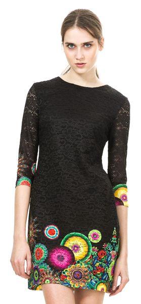 Desigual dámské šaty 38 černá