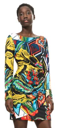 Desigual dámské šaty M viacfarebná