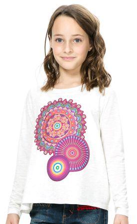 Desigual dekliška majica 140 smetane
