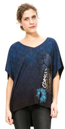 Desigual T-shirt damski S niebieski