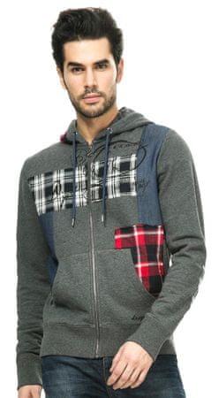 Desigual férfi pulóver L szürke