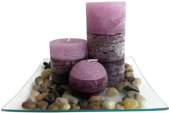 Toro set 3 dišečih sveč z vonjem sivke