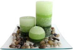 TORO Darčekový set 3 sviečky s vôňou zelených čajov