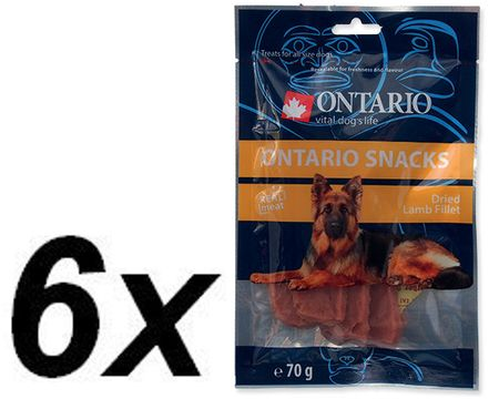 Ontario przekąska dla psa Snack Dry Lamb Fillet 6 x 70 g