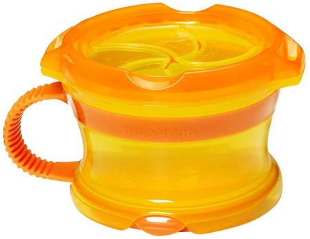 MUNCHKIN Kubeczek na przekąski Click Lock, pomarańczowo-żółty