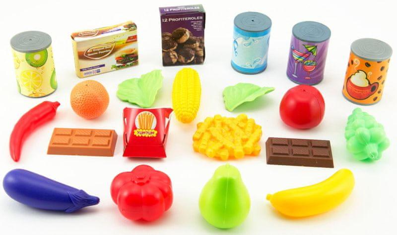 Teddies Ovoce a zelenina + doplňky plast 60ks v plastovém boxu