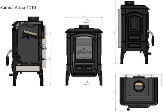 Guča Kamna ARINA 2110 (GU.2110) černá