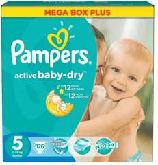 Pampers pleničke Active Baby Junior (5), 126 kosov